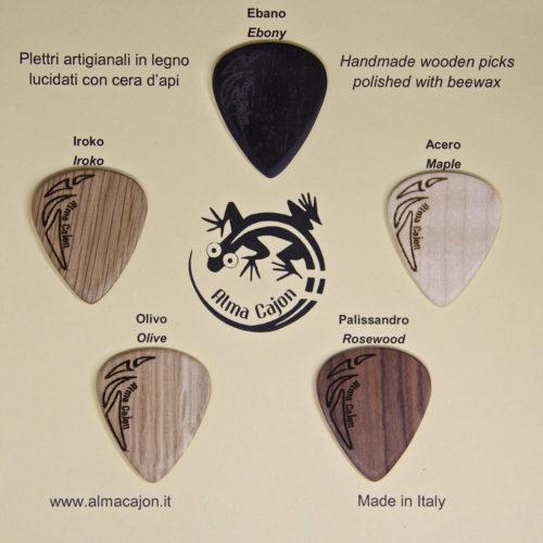 Plettri Picks selezione 1 Alma Cajon
